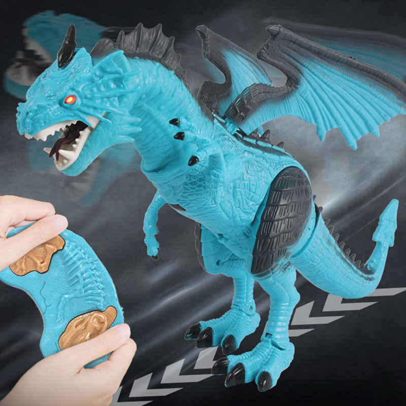Remote Control RC Dragon Walking Dinosaur Toy with Light Sound Kids Toy Gifts FJ88