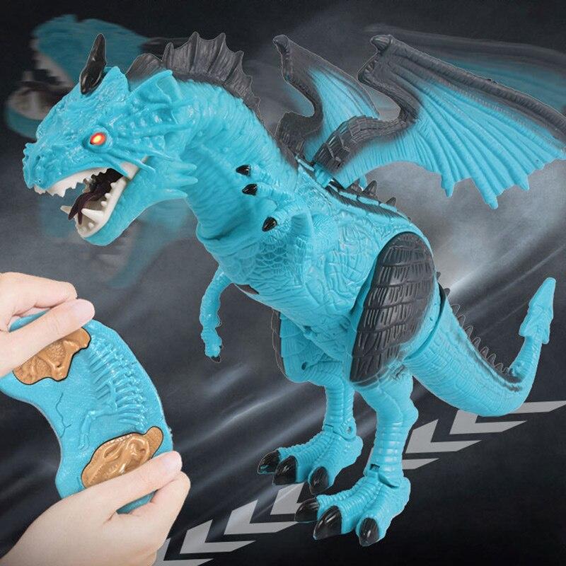 Télécommande RC Dragon marche dinosaure jouet avec son léger enfants jouet cadeaux FJ88