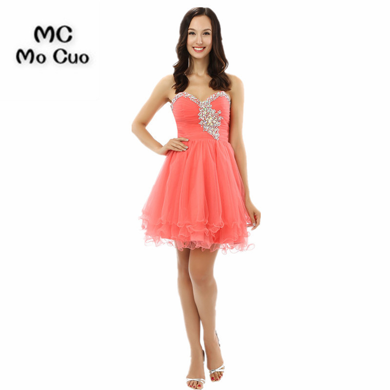 Homecoming Dresses Honey 2017 Ball Gown Homecoming Dress Short 8th Grade Prom Dresses Organza Beaded Cocktail Party Dress Ruffles Graduation Girls 2019 Official