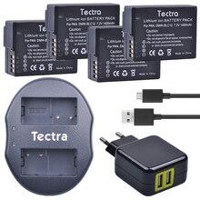 Tectra 4 шт. DMW-BLC12 DMW BLC12PP BP-DC12 Bateria + USB двойной Зарядное устройство с ac адаптер для Panasonic FZ1000 FZ200 FZ300 G5 G6 G7
