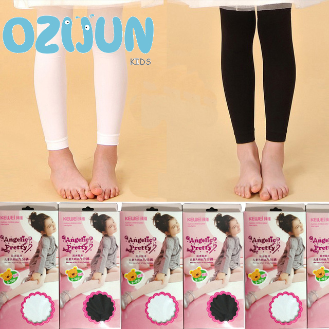 Show details for 4-14 years girls Velvet stockings footless tights children ballet dance black or white tights foot stockings in opaque