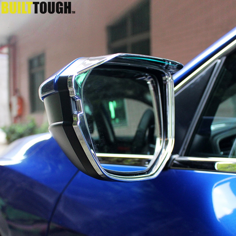 For Honda Civic Sedan Coupe Hatchback 2016 2017 2018 Chrome Rear View Side Door Mirror Rain Visor Shade Cover Trim Car Styling