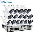 Nueva 16CH 1080 P 48 V POE NVR 2.0MP CCTV Sistema 16 unids 3000TVL POE Cámara IP de Onvif P2P Impermeable Al Aire Libre de Vigilancia de Seguridad Kit