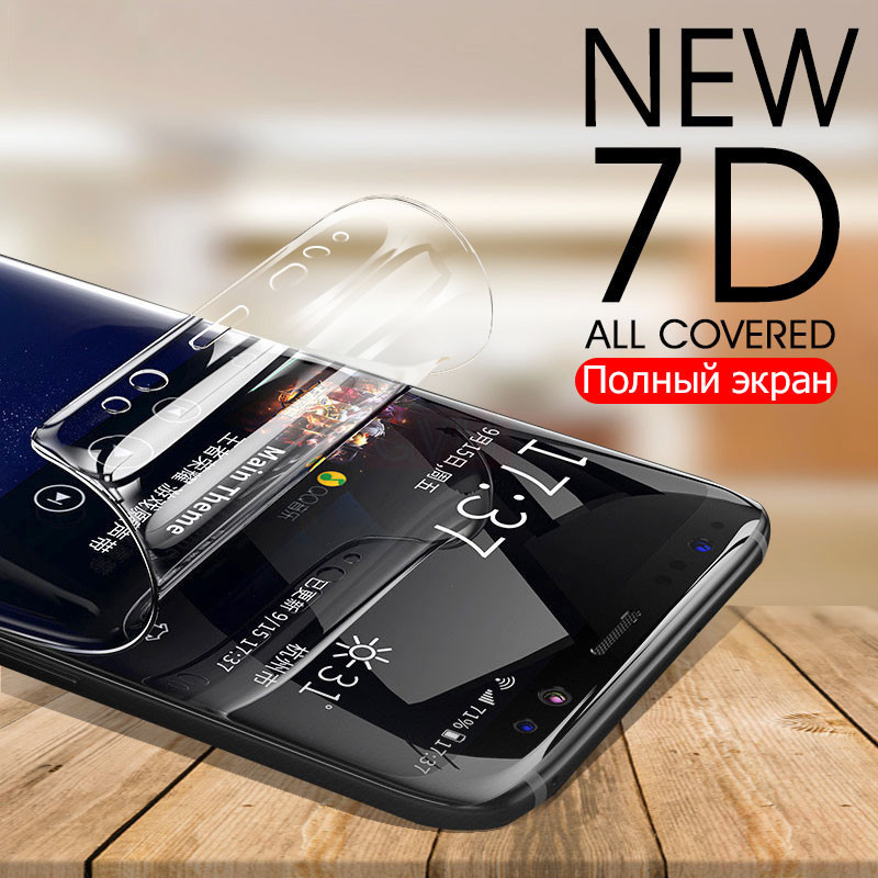 3D Curved Soft Hydrogel Film For Samsung Galaxy Note 9 8 S9 S10 Screen Protector For Samsung S10 S9 S8 S7 S6 Edge Plus Not Glass in Phone Screen Protectors from Cellphones Telecommunications
