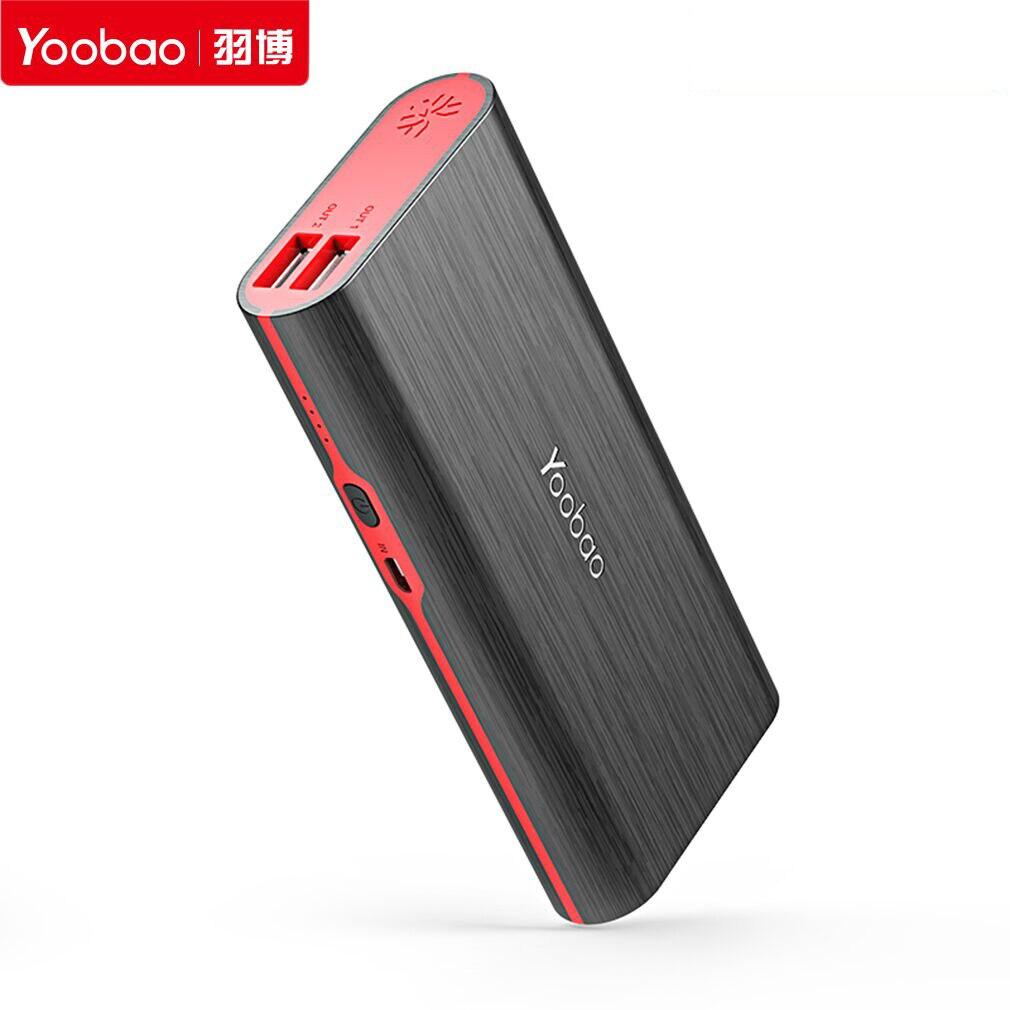 S7 Yoobao 10000 mAh banco de Potencia de Gran Capacidad Dual USB 2A de Carga Ext