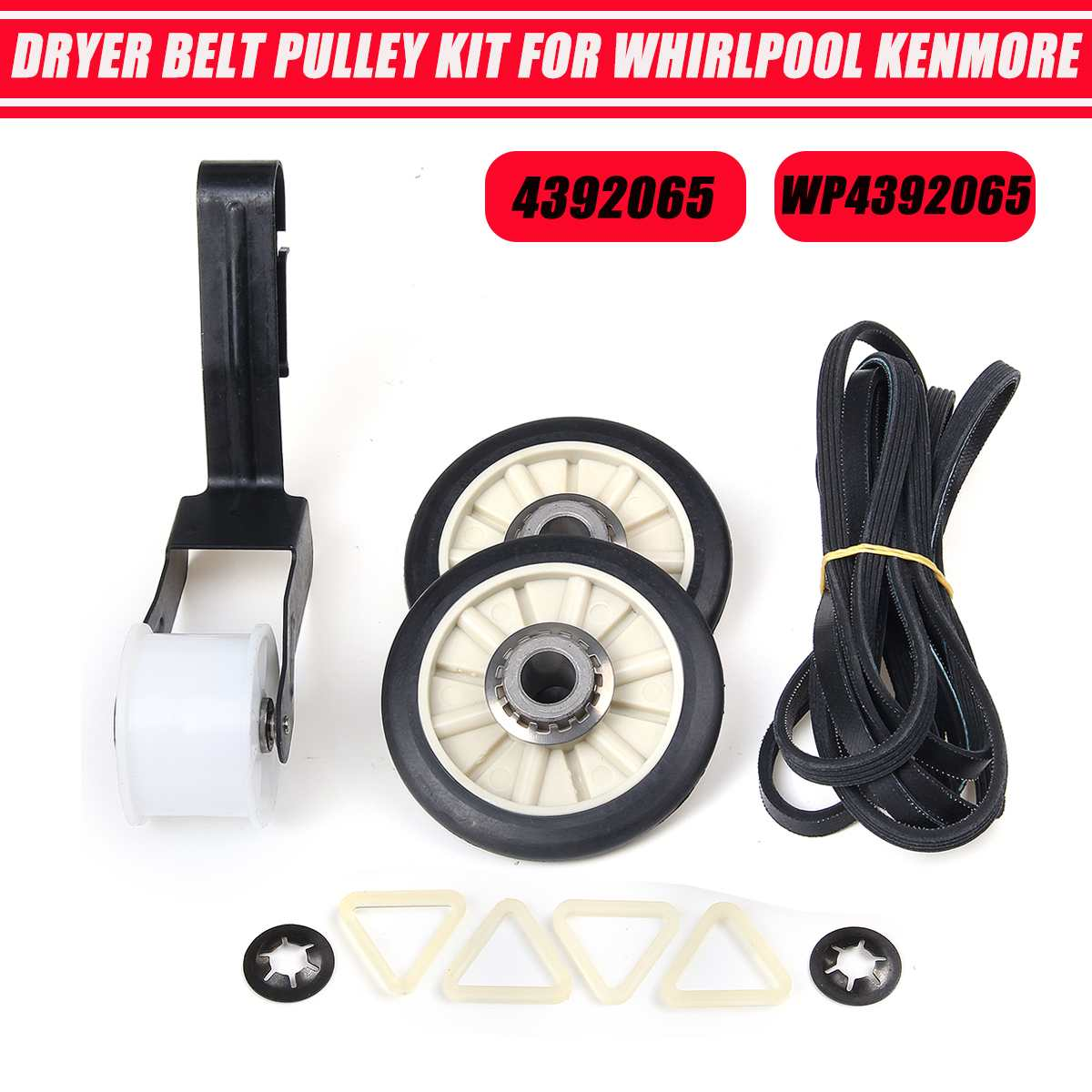 Dryer Belt Roller Kit For Whirlpool Kenmore WPW10314173 W10314171 4392065 WP4392065 691366 341241 349241T