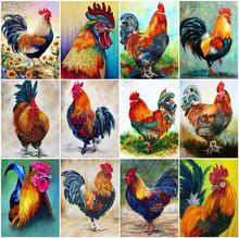 Diamond Embroidery Sale Full Square Painting Chicken  Animal Rhinestone Picture 5D Mosaic Farm Decoration