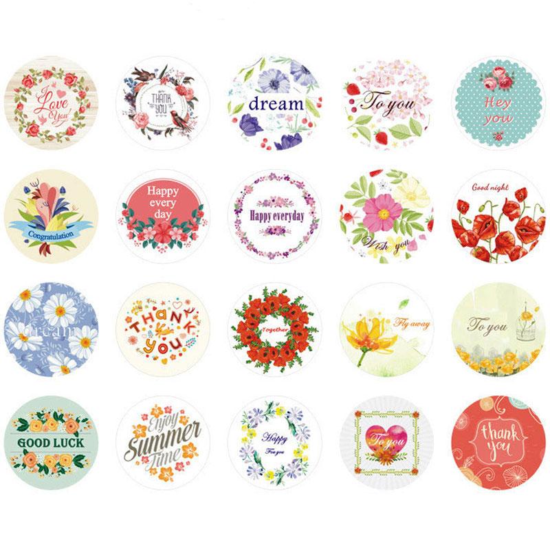 38 PCS Kawaii Flower Stickers Scrapbooking Handbook Cards ...