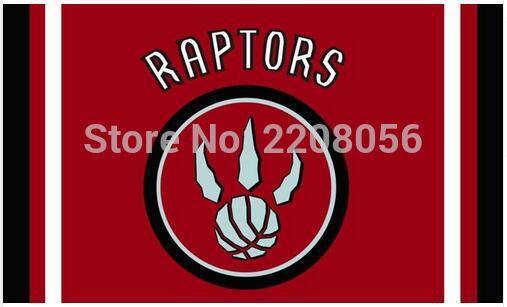 NBA 3ftx5ft Toronto Raptors flag Banner 100D Polyester Flag metal Grommets Free shipping
