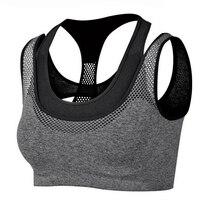 New Arrival Absorb Sweat Quick Drying Shockproof Sports Bra Fitness Underwear Running Sleep Vest Crop Top