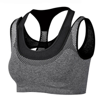 New Arrival Absorb Sweat Quick Drying Shockproof Sports Bra Fitness Underwear Running Sleep Vest Crop Top