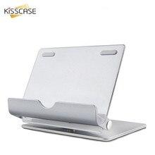 KISSCASE Tablet PC y Teléfono Móvil Del Sostenedor Del Soporte de 360 Grados de Rotación Soporte de Lazy Soporte de Aleación de Aluminio de Escritorio Plegable Desmontable
