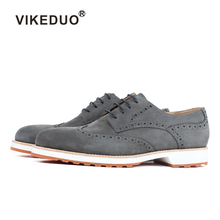 Vikeduo Handmade Italy Designer Suede Wedding Party Luxury Outdoor Fashion Casual Male Dress Genuine Leather Mens Derby Shoes 2018 sale vikeduo handmade mens loafer black suede 100