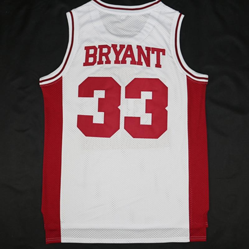 5a3e0c532421 ... retrocesso kobe bryant 33 basketball jerseys lower merion high school  retro vermelho e branco boa qu