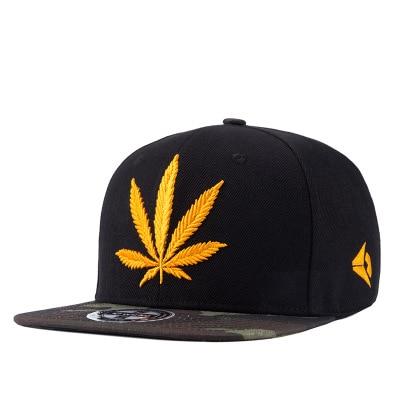 WUKE Cotton Gorras Planas Snapback Dad Hats Sun Visor Baseball Cap Weed  Flat Eave Hip Hop e4ee2afd3bf