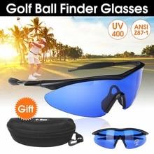 Очки для мужчин и женщин в стиле ретро, очки для гольфа, очки с голубыми линзами, очки для защиты глаз, спортивные очки, солнцезащитные очки с коробкой, аксессуары для гольфа