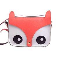 Wholesale 10* Cute Fox Owl Retro Shoulder Messenger Bag Pu Leather CrossBody Satchel Handbag