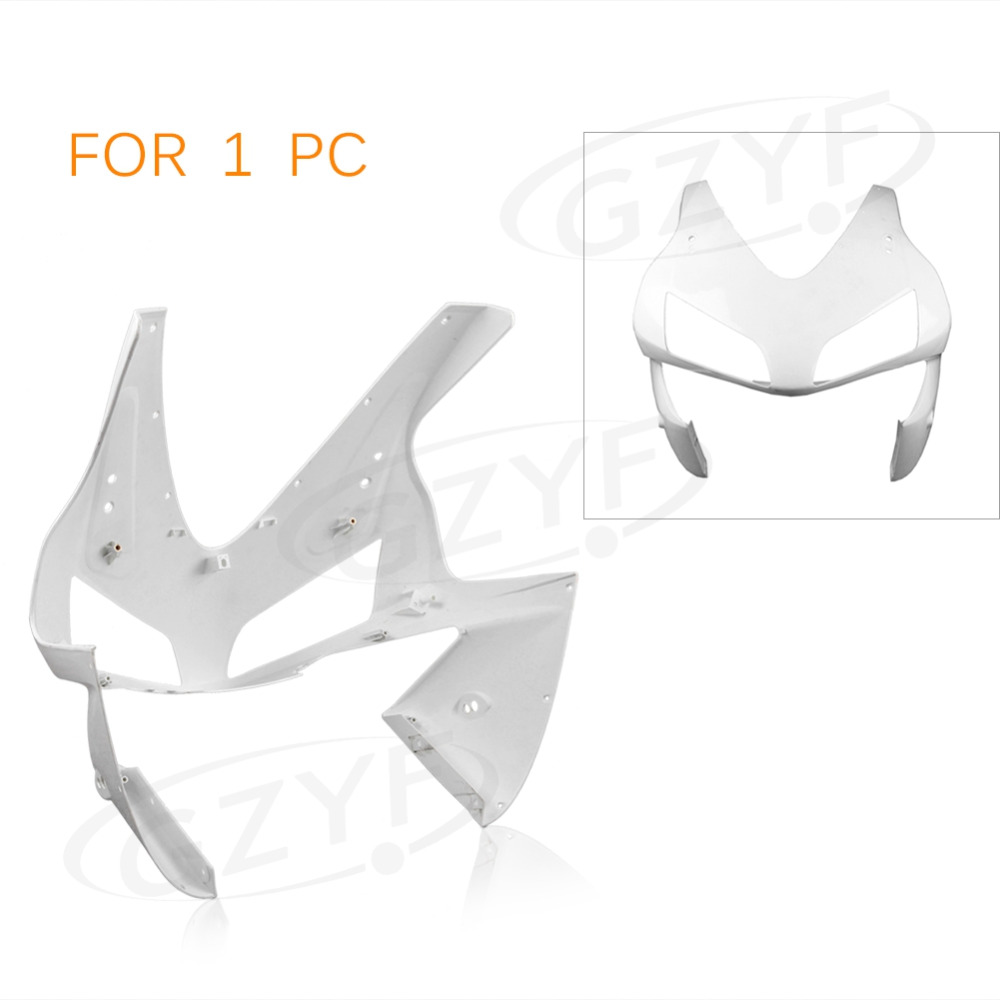 Injection Mold ABS Plastic Upper Front Fairing Cowl Nose Parts for 2003 2004 CBR 600RR F5 abs injection front upper fairing front cowl nose for honda cbr 600 rr 600rr 2007 2008 unpainted