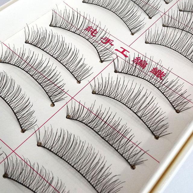 10 pares handmade natural longo cílios postiços maquiagem maquillage cílios cílios cílios falsos eye lashes falso cils #217