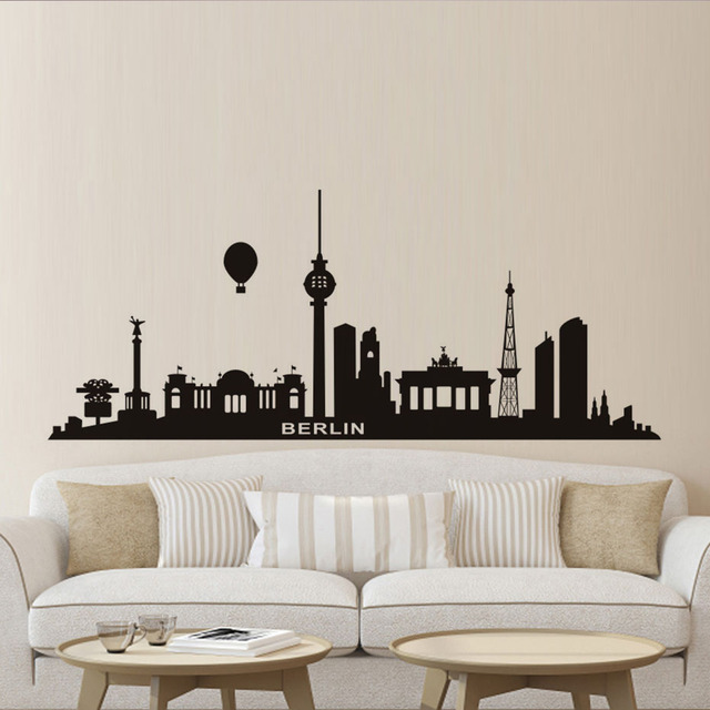 Grandi Dimensioni Nero Idrogeno Palloncino Muro di Berlino Sticker ...