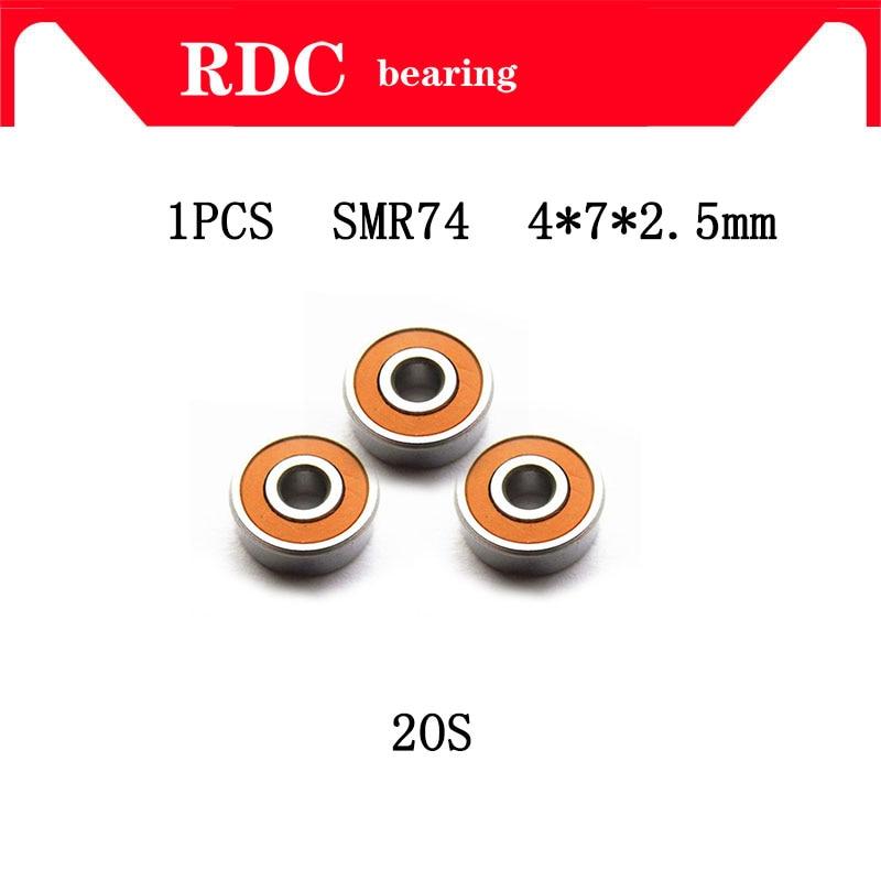 High quality 1PCS 4X7X2.5mm SMR74 2OS CB ABEC7 Stainless Steel Hybrid Ceramic Bearing/Fishing Reel Bearings SMR74C 2OS SMR74-2RS 1pcs fishing reel bearing s686 2rs abec 7 6 13 5 stainless steel hybrid ceramic ball bearings s686rs s686 2rs cb 6x13x5 mm