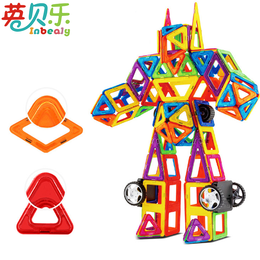 64 234pcs Magnetic Blocks Designer Construction Set Plastic Mini Magnetic Education Model Building Toys For Children Boys Gift