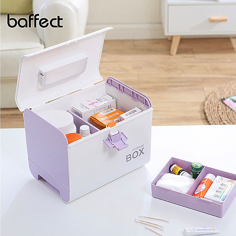 Home First Aid Kit Medicine Box Storage Box Plastic Container  Emergency Kit Portable Multi layer Large Capacity Medicine ChestStorage  Boxes