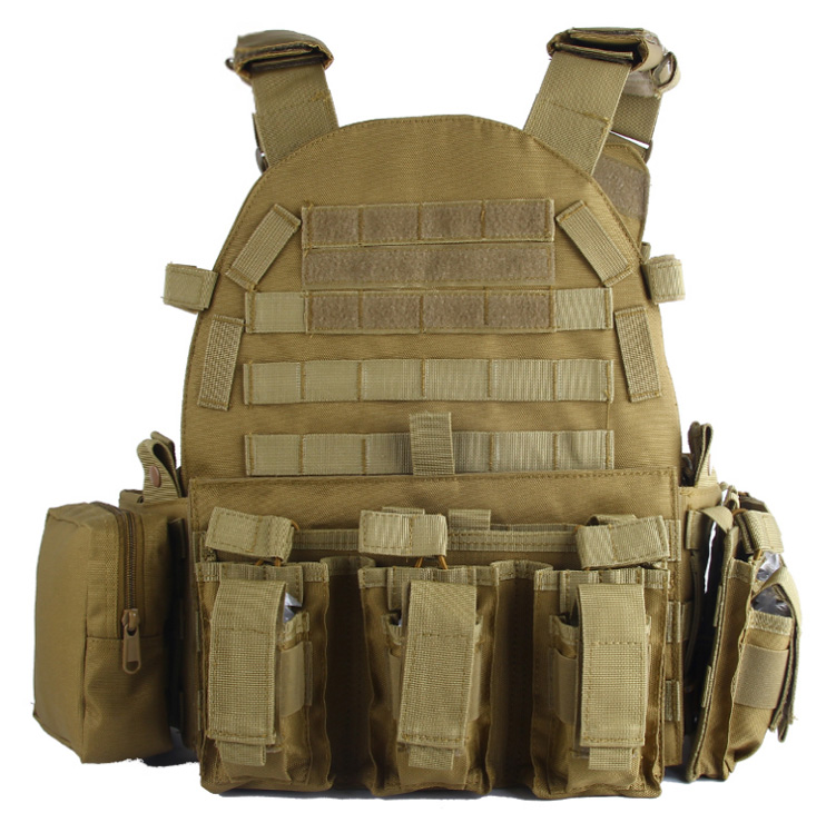 Surwish Plate Carrier Modular Military Tactical Equipment for Airsoft Outdoor Activities Tan