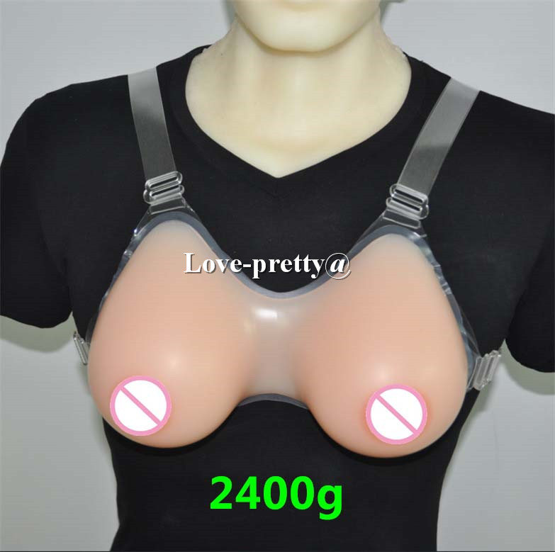 2400g/pair Crossdresser Transgender Shemale Silicone Breast Form Boobs Tits Breast Enhancer 7XL G cup