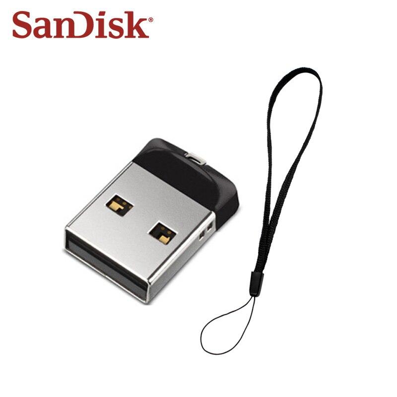 100% Original SanDisk CZ33 USB Flash Drive 16GB 32GB High Speed USB 2.0 Mini U Disk Memory Stick 64GB USB Pendrive