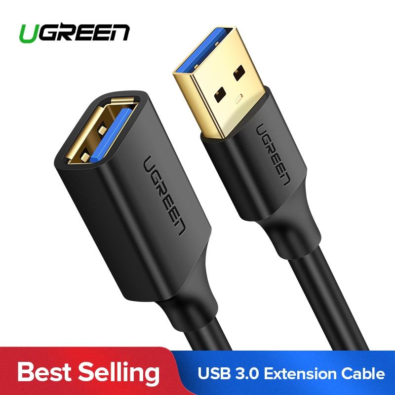 Black 0.8m Generic QGeeM USB 3.0 Extension Cable Male to Female USB3.0 Cable Extension Male Female for Computer Samsung Flash Drive HDD