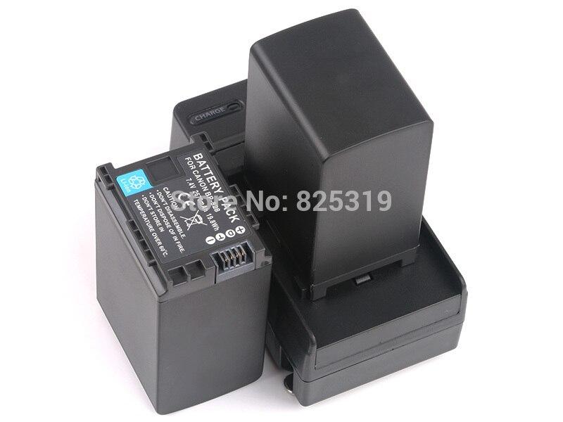 2 PC 7.4 V 2670 mAh BP-828 rechargeable Batterie BP828 BP 828 Caméra batteries + chargeur pour Canon HF G30 HFG30 XA20 XA25 BP-820