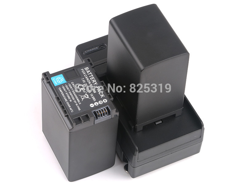 лучшая цена 2PC 7.4V 2670mAh BP-828 rechargeable Battery BP828 BP 828 Camera batteries + charger for Canon HF G30 HFG30 XA20 XA25 BP-820