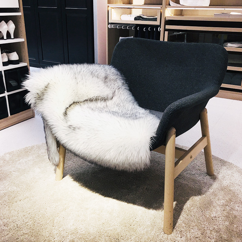 Fur Fluffy For Area Rownfur Bath  Modern Silky Living Home Chair Kids Shaggy Cover Faux Room Mats Rug Carpet Washable 2