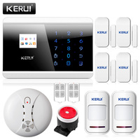 KERUI 433Mhz Wireless Smoke Alarm For Home Security App Control GSM PSTN Alarm Systems Security Home