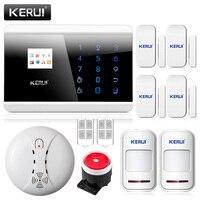 KERUI 433 Mhz detector de Humo Inalámbrico para IOS Android App Control de seguridad para el hogar GSM PSTN Seguridad en el Hogar Sistemas de Alarma
