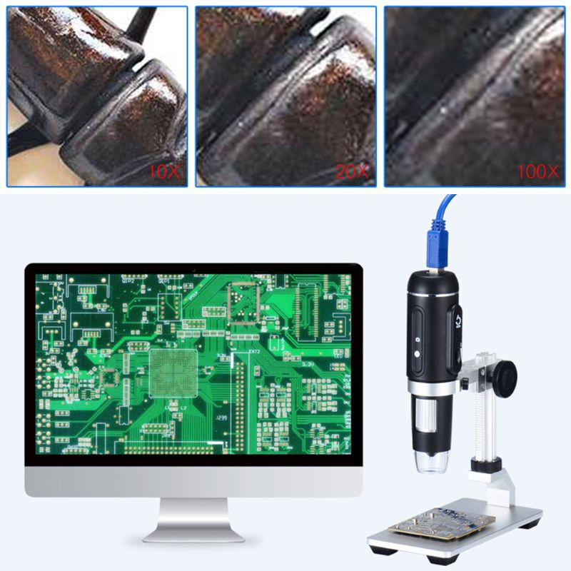 1000X USB3.0 Digital Microscope 5MP HD Camera Electronic Magnifier with Holder