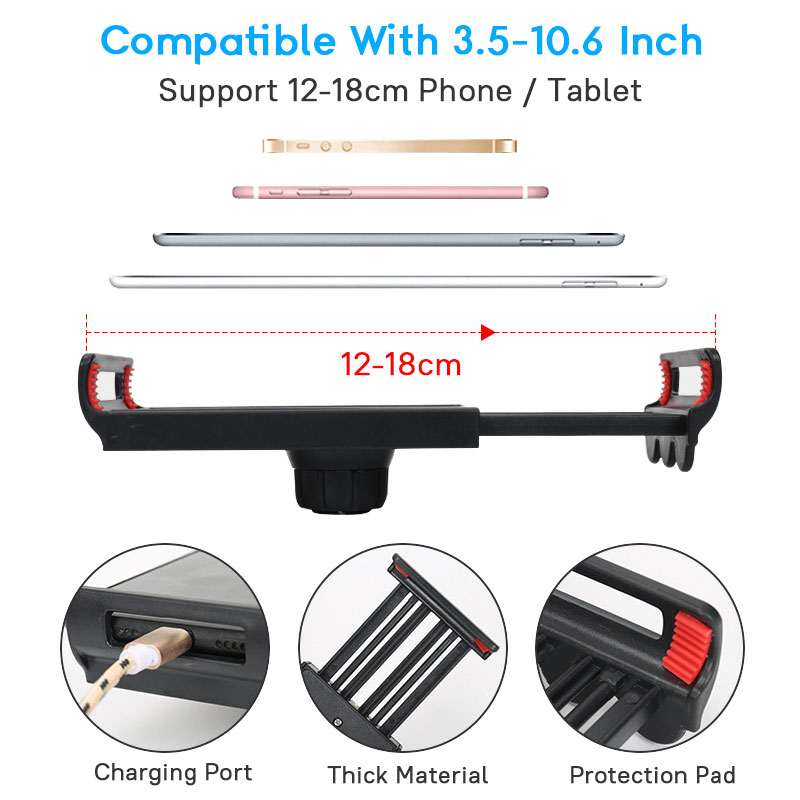 Image 5 - Flexible Strong Arm Tablet PC Stand Support 4 to 10.6 inch  Tablets Screen 360 Rotating Bed Desktop Tablet Holder For iPhone  iPadTablet Stands