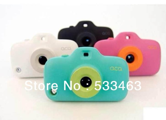 3D camera cover case for Iphone4 4S, silicone Phone shell kaleidoscope free shipping