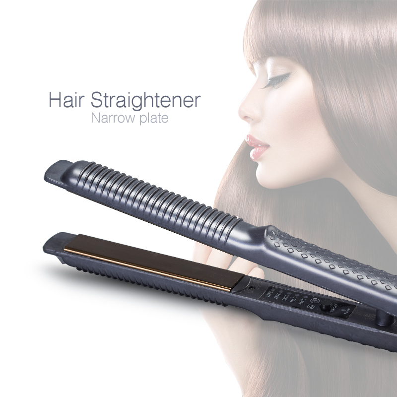 Household Hair Straightener Fast Heating Narrow Plate Flat Iron Hair Curling Iron Chapinha Para Cabelo Women Styling Tool titanium plates hair straightener lcd display straightening iron mch fast heating curling iron flat iron salon styling tools