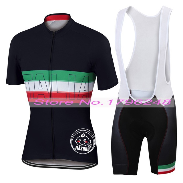NEW 2017 JIASHUO ITALIA Black Bicycle pro road Team Bike Pro Cycling Sets    Wear Jersey   Bib Shorts Breathable 3D Gel Pad 122ac19d6