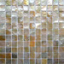 Yellow mother of pearl mosaic tile for home decoration backsplash and bathroom wall tile AL088
