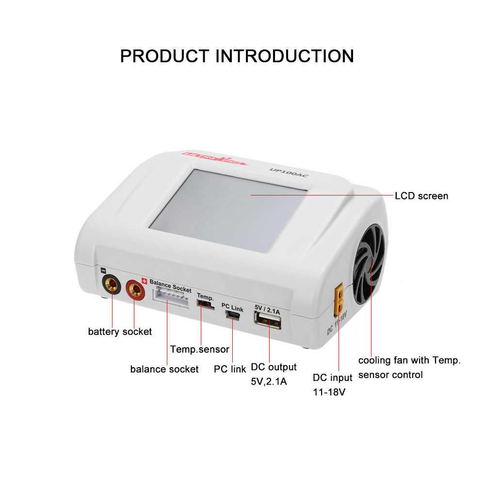 RC Power 100 W UP100AC Balance Charger dengan Multi Mode Pengisian 2 Port untuk Lipo Lihv Life Lilon NiCd NiMH PB RC Baterai