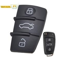 3 zamiennik z przyciskami osłona na klucze gumowa obudowa pilota bez kluczyka Fob dla Audi A1 S1 A3 A4 A5 A6 A8 Q5 Q7 TT RS tanie tanio XUKEY CN (pochodzenie) RUBBER protect