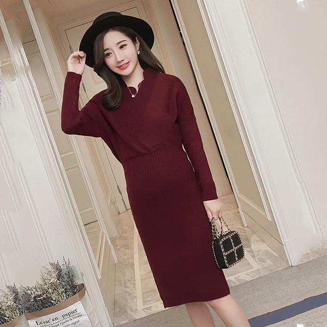 170ca744687 2018 Sexy Knitted Maternity Nursing Sweater Autumn Winter Plus Size  Pregnancy Pullover Breastfeeding Clothes For Pregnant Women