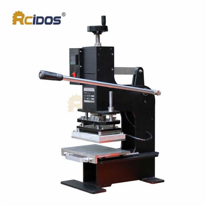 ZY 180 Heave duty pressure hot foil stamping machine,23x15cm RCIDOS Creasing machine,marking press,embossing machine
