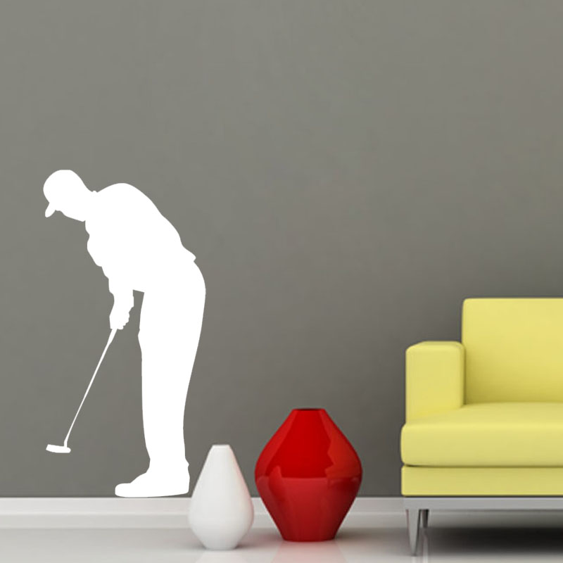 Playing Golf Wall Stickers Forward Putter Black Wall Decals Vinyl Art Stickers Home Decor Living Room Wall Decoration