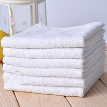 Wholesale 2PCS Portable Terry White Towel Hotel Home Use Multi Function Hand Face Cleaning Wash Cloth Small 25*25cm