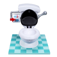New TOILET TROUBLE Toilet Spraying Water Spoof Game Funny Mini Prank Squirt Spray Water Toilet Spoof