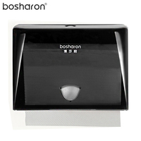 Paper Towel Dispenser For N Fold Hand Paper ABS Plastic Tissue Box Button Open 4 Colors Optional Bathroom Kitchen Accessories
